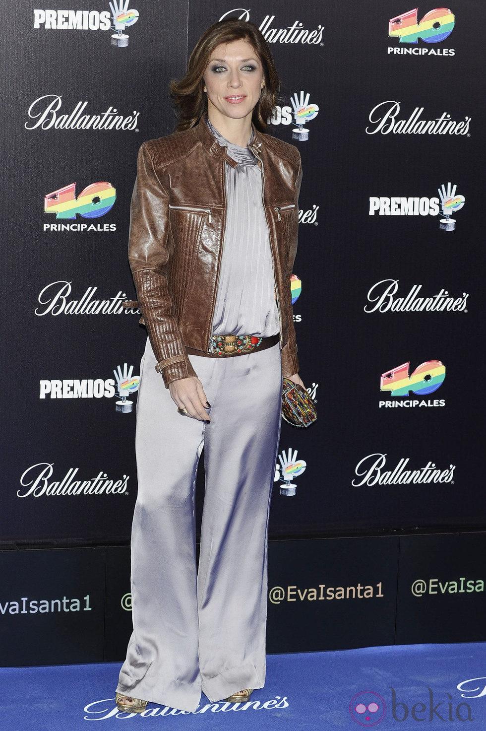 Eva Isanta en los Premios 40 Principales 2012