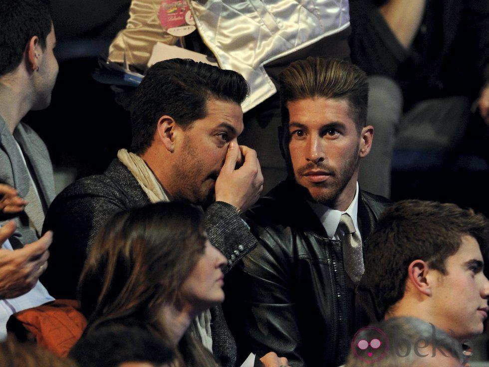 René y Sergio Ramos en los Premios 40 Principales 2012