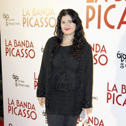 Lucía Etxebarría en el estreno de 'La banda Picasso' en Madrid