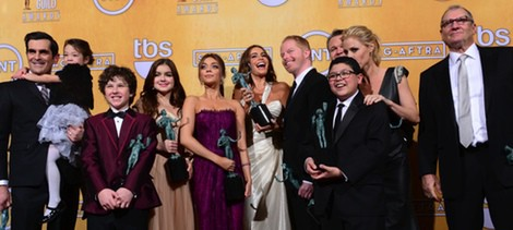 El reparto de 'Modern Family' en los Screen Actors Guild Awards 2013