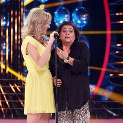 María del Monte en el programa 'Tu cara me suena' junto a Anna Simón