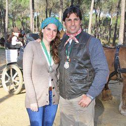 Francisco Rivera y Lourdes Montes en una peregrinación a El Rocío