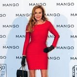 Ana Obregón en el desfile de Mango primavera/verano 2013 de la 080 Barcelona Fashion