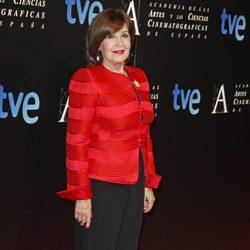 Concha Velasco en la entrada de la cena de los nominados a los Goya 2013