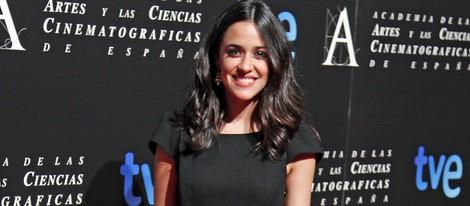 Macarena García en la entrada de la cena de los nominados a los Goya 2013