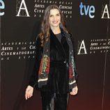 Ángela Molina en la entrada de la cena de los nominados a los Goya 2013