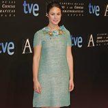 Aída Folch en la entrada de la cena de los nominados a los Goya 2013
