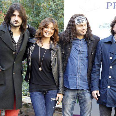 Melendi, Merche, El Arrebato y Manuel Carrasco en la presentación de los galardonados en los Premios Cadena Dial 2012