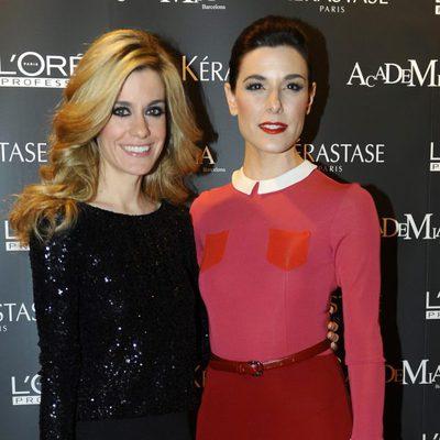 Raquel Sánchez Silva y Alexandra Jiménez inauguran una academia de L'Oreal en Barcelona