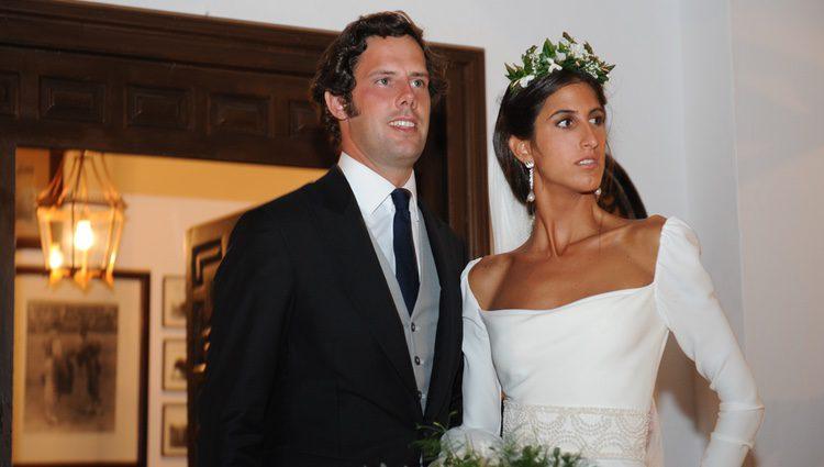 Javier Martínez de Irujo e Inés Domecq el día de su boda