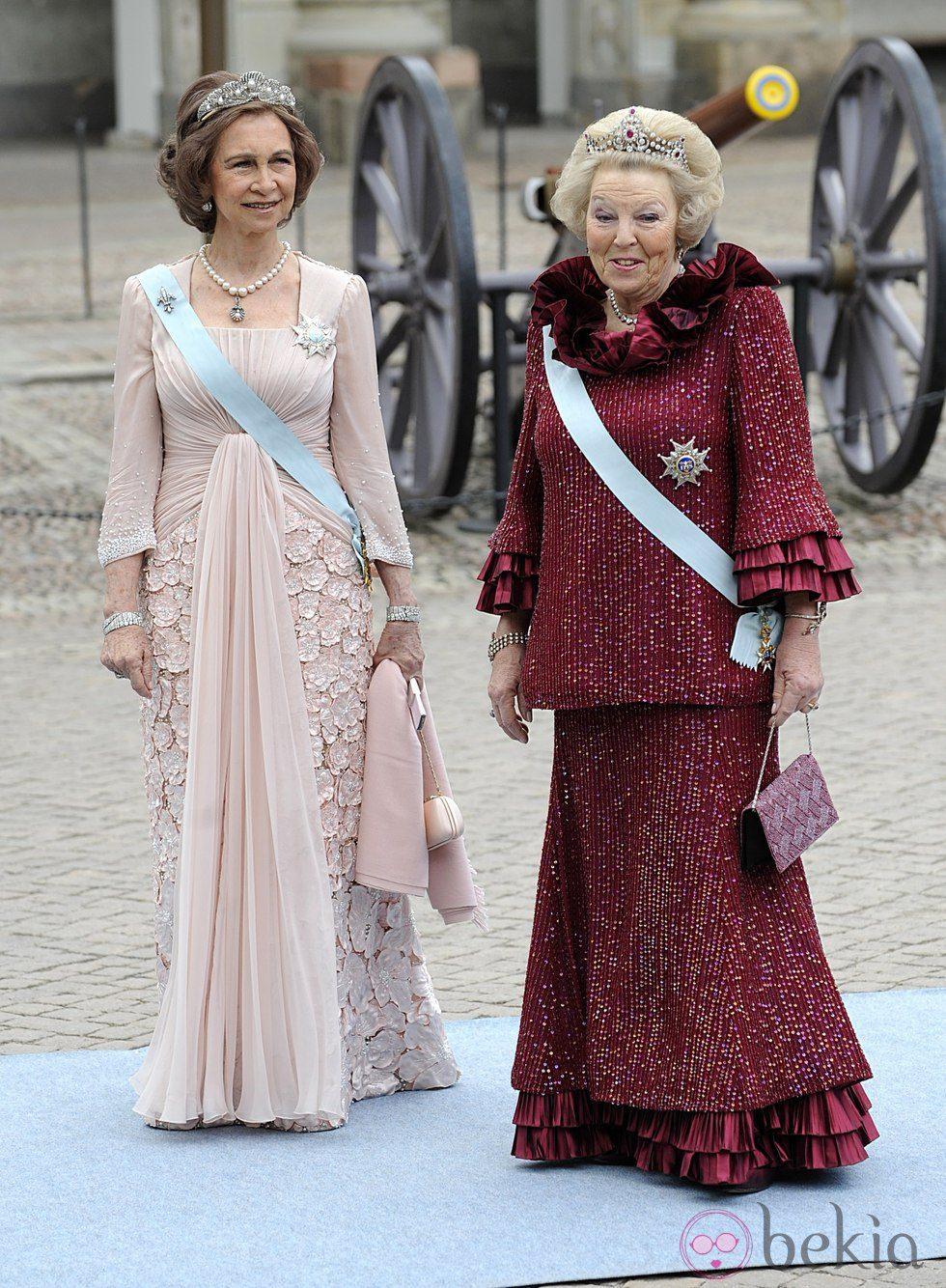 La Reina Beatriz de Holanda y la Reina Sofía de España