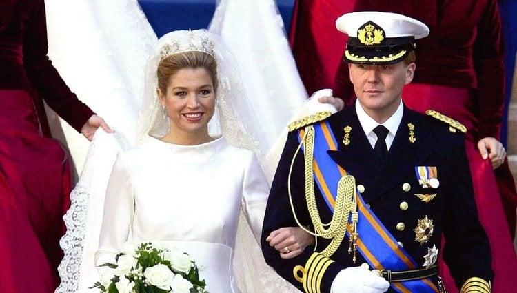 Guillermo y Máxima de Holanda el día de su boda