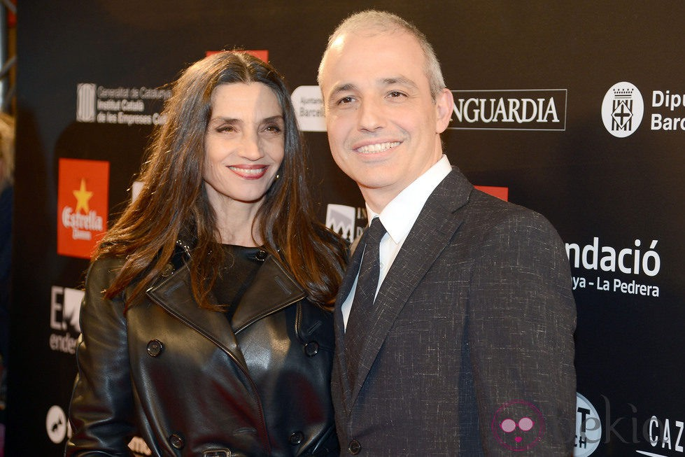 Ángela Molina y Pablo Berger en los Premios Gaudí 2013
