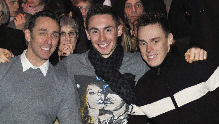 Daniel Ducruet con sus hijos Michael y Louis