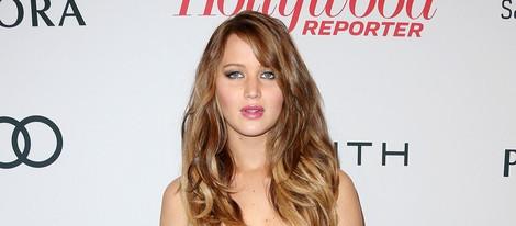 Jennifer Lawrence en la fiesta tras el almuerzo de los nominados a los Oscar 2013