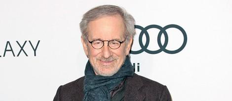 Steven Spielberg en la fiesta tras el almuerzo de los nominados a los Oscar 2013