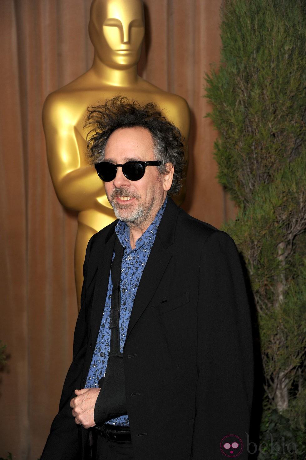 Tim Burton en el almuerzo de los nominados a los Oscar 2013