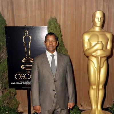 Denzel Washington en el almuerzo de los nominados a los Oscar 2013
