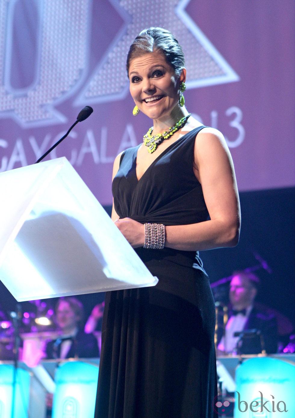 Victoria de Suecia en su discurso en la Gaygalan XQ