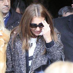 Paula Echevarría en el funeral de su abuela en Candás