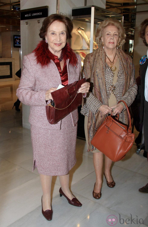 Carmen Franco en la inauguración del Rastrillo de Sevilla 2013
