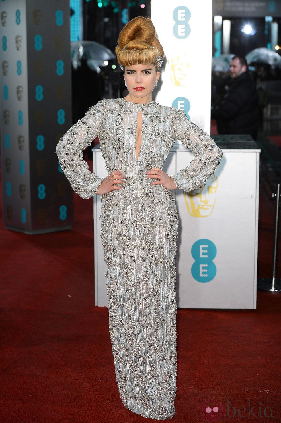 Paloma Faith en la alfombra roja de los BAFTA 2013