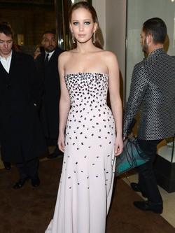 Jennifer Lawrence dentro de los BAFTA 2013