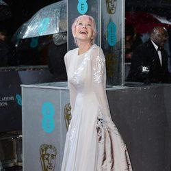 Helen Mirren en la alfombra roja de los BAFTA 2013