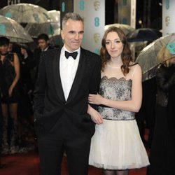 Daniel Day-Lewis en la alfombra roja de los BAFTA 2013