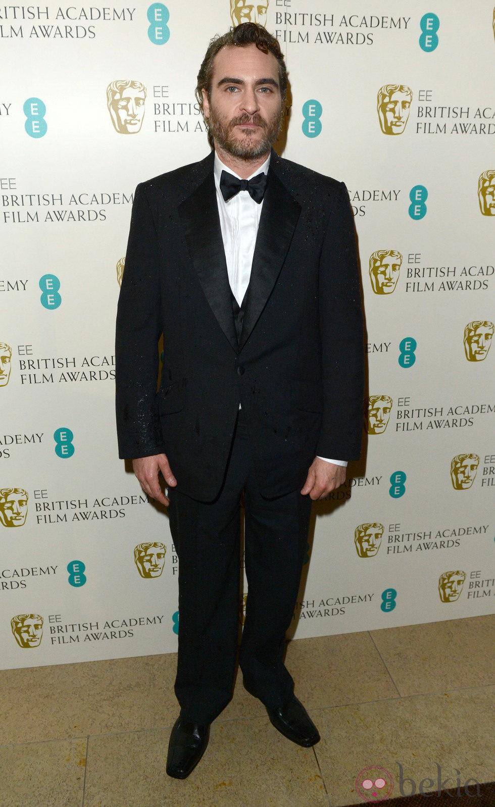 Joaquin Phoenix en la alfombra roja de los BAFTA 2013