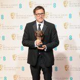 David O. Russell con el BAFTA 2013 de 'El lado bueno de las cosas'