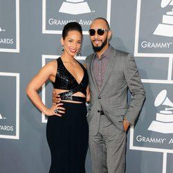Alicia Keys y Swizz Beatz en los Grammy 2013