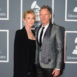 Sting y Trudie Styler en los Grammy 2013