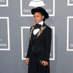 Janelle Monae en los Grammy 2013