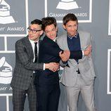 Fun. en la alfombra roja de los Grammy 2013