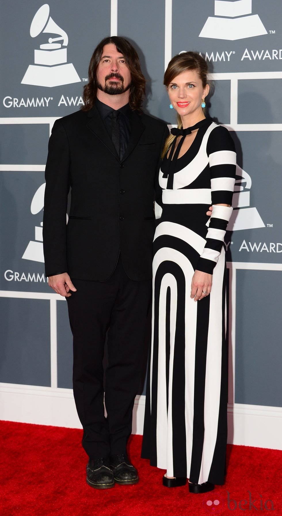 Dave Grohl y Jordyn en los Grammy 2013