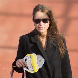 Paula Echevarría recoge a su hija en el colegio