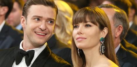 Justin Timberlake y Jessica Biel en los Grammy 2013