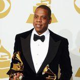 Jay-Z, con sus premios Grammy 2013
