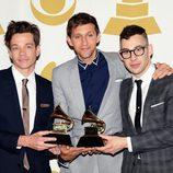 Nate Ruess, Andrew Dost y Jack Antonoff con el Premio Grammy 2013