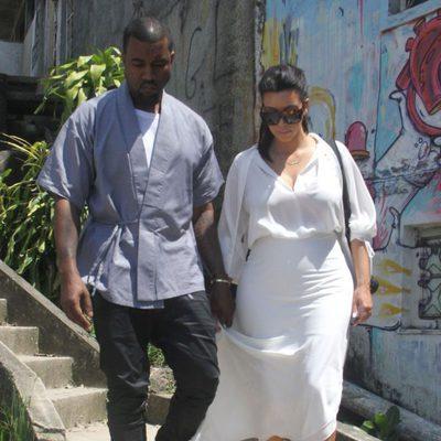 Kim Kardashian paseando con Kanye West por Río de Janeiro