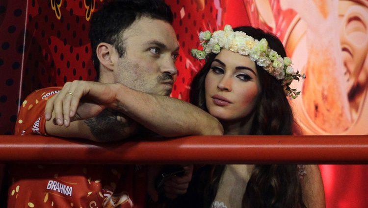 Megan Fox y Brian Austin en los carnavales de Río de Janeiro