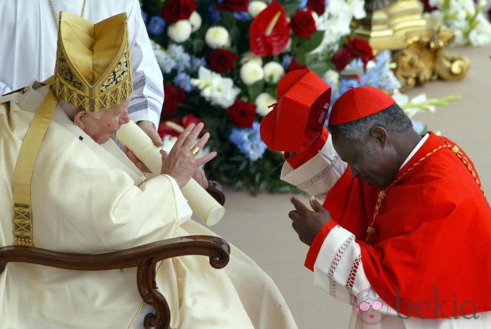 Peter Turkson y Benedicto XVI