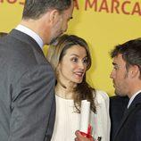 Los Príncipes de Asturias charlan con Fernando Alonso en la entrega de los Embajadores de la Marca España