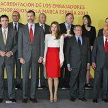 Los Príncipes de Asturias con los nuevos Embajadores Honorarios de la Marca España