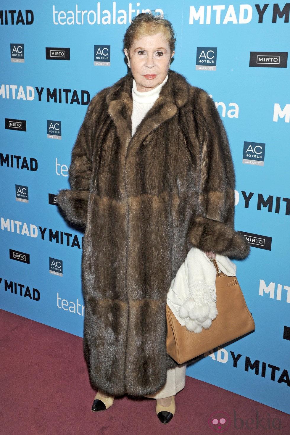 Lina Morgan en el estreno de 'Mitad y mitad'
