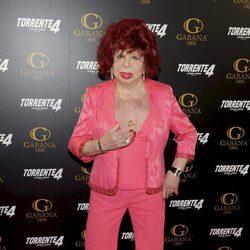 Carmen de Mairena en el estreno de 'Torrente 4'