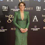 Paula Echevarría en la alfombra roja de los Goya 2013