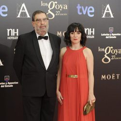 Enrique Gonzalez Macho y Judith Colell en la alfombra roja de los Goya 2013