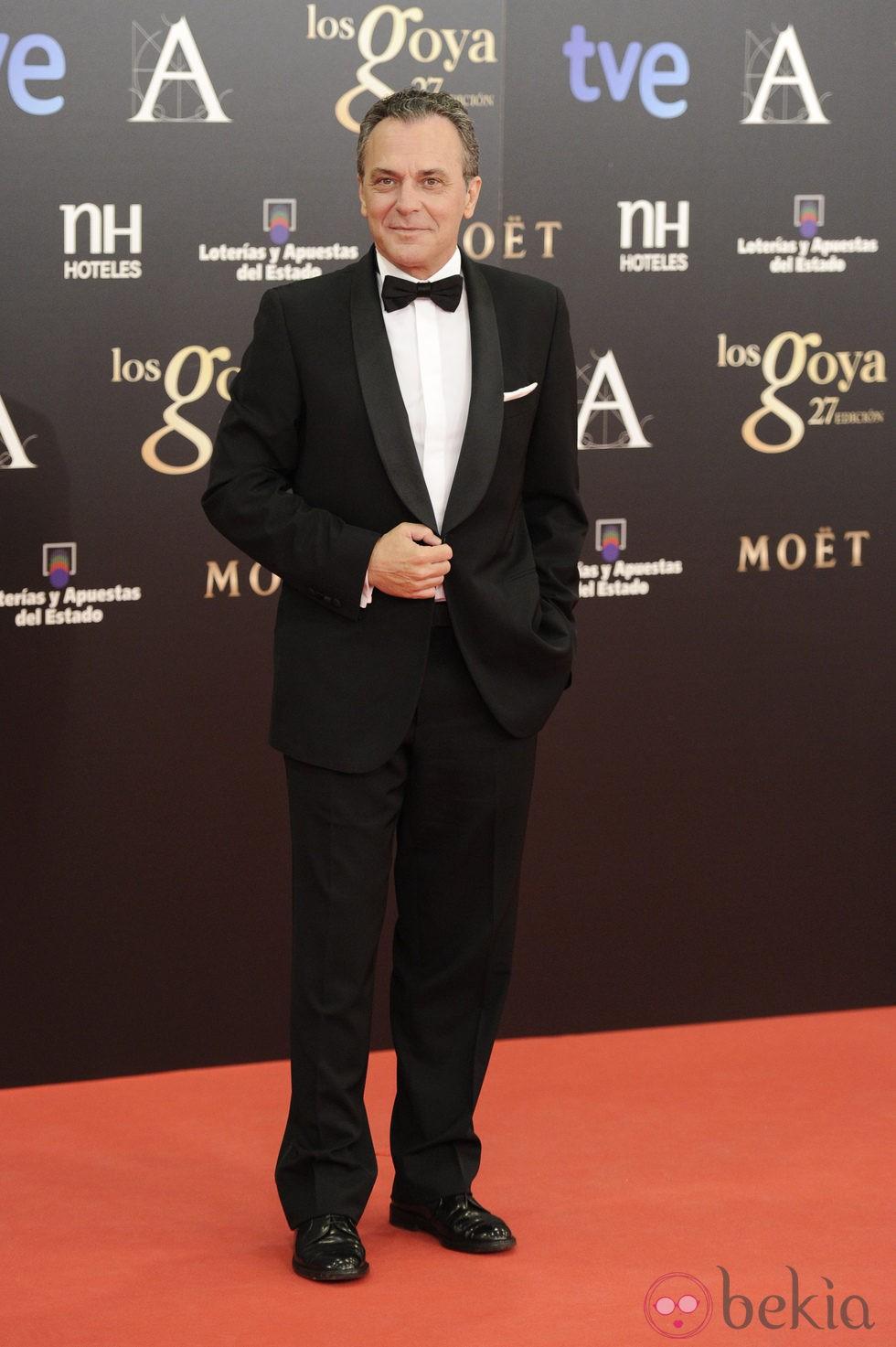 José Coronado en la alfombra roja de los Goya 2013